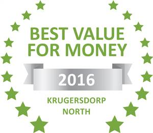 Sleeping-OUT's Guest Satisfaction Award. Based on reviews of establishments in Krugersdorp North, Welpie Guesthouse has been voted Best Value for Money in Krugersdorp North for 2016