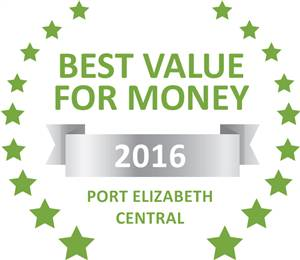 Sleeping-OUT's Guest Satisfaction Award. Based on reviews of establishments in Port Elizabeth Central, Rose Village Guesthouse has been voted Best Value for Money in Port Elizabeth Central for 2016