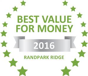 Sleeping-OUT's Guest Satisfaction Award. Based on reviews of establishments in Randpark Ridge, Whara Whara Guest House has been voted Best Value for Money in Randpark Ridge for 2016