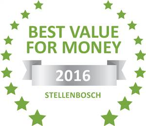 Sleeping-OUT's Guest Satisfaction Award. Based on reviews of establishments in Stellenbosch, Evergreen Lodge has been voted Best Value for Money in Stellenbosch for 2016