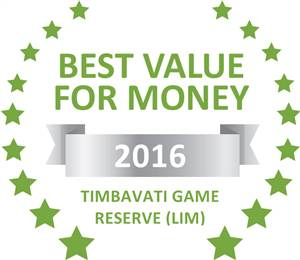 Sleeping-OUT's Guest Satisfaction Award. Based on reviews of establishments in Timbavati Game Reserve (LIM), Amanzimloti Riverside Bush Camp has been voted Best Value for Money in Timbavati Game Reserve (LIM) for 2016