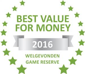 Sleeping-OUT's Guest Satisfaction Award. Based on reviews of establishments in Welgevonden Game Reserve, Jamila Game Lodge has been voted Best Value for Money in Welgevonden Game Reserve for 2016