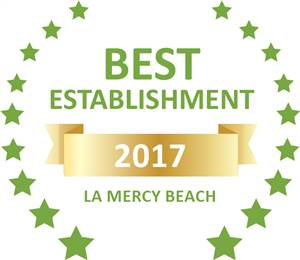 Sleeping-OUT's Guest Satisfaction Award. Based on reviews of establishments in La Mercy Beach, Eden Rose Manor has been voted Best Establishment in La Mercy Beach for 2017