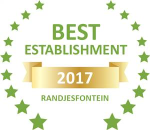 Sleeping-OUT's Guest Satisfaction Award. Based on reviews of establishments in Randjesfontein, Amohela Guesthouse has been voted Best Establishment in Randjesfontein for 2017