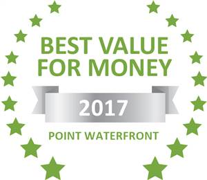 Sleeping-OUT's Guest Satisfaction Award. Based on reviews of establishments in Point Waterfront, Point Waterfront Apartments has been voted Best Value for Money in Point Waterfront for 2017