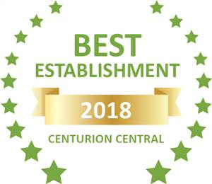 Sleeping-OUT's Guest Satisfaction Award. Based on reviews of establishments in Centurion Central, Lapalosa Lodge has been voted Best Establishment in Centurion Central for 2018