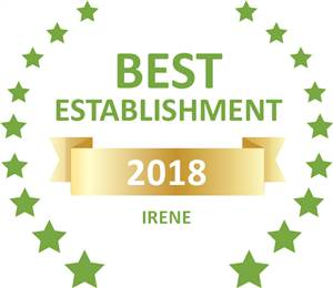 Sleeping-OUT's Guest Satisfaction Award. Based on reviews of establishments in Irene, Hibiscus Lane has been voted Best Establishment in Irene for 2018