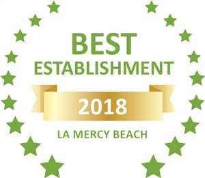 Sleeping-OUT's Guest Satisfaction Award. Based on reviews of establishments in La Mercy Beach, La-Peng Guest House has been voted Best Establishment in La Mercy Beach for 2018