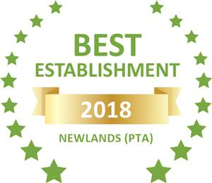 Sleeping-OUT's Guest Satisfaction Award. Based on reviews of establishments in Newlands (PTA), 94onWild has been voted Best Establishment in Newlands (PTA) for 2018
