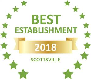 Sleeping-OUT's Guest Satisfaction Award. Based on reviews of establishments in Scottsville, Tancredi has been voted Best Establishment in Scottsville for 2018
