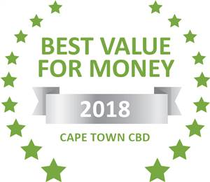 Sleeping-OUT's Guest Satisfaction Award. Based on reviews of establishments in Cape Town CBD, De Waterkant Lodge has been voted Best Value for Money in Cape Town CBD for 2018
