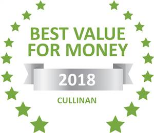 Sleeping-OUT's Guest Satisfaction Award. Based on reviews of establishments in Cullinan, Tranquillity Spa Lodge has been voted Best Value for Money in Cullinan for 2018
