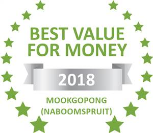 Sleeping-OUT's Guest Satisfaction Award. Based on reviews of establishments in Mookgopong (Naboomspruit), Africa's Eden Guesthouse has been voted Best Value for Money in Mookgopong (Naboomspruit) for 2018