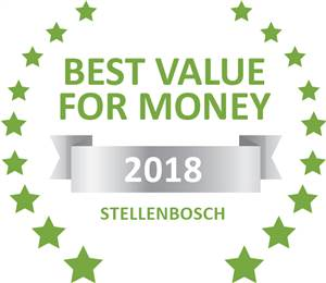 Sleeping-OUT's Guest Satisfaction Award. Based on reviews of establishments in Stellenbosch, River Manor Boutique Hotel and Spa has been voted Best Value for Money in Stellenbosch for 2018