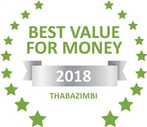 Sleeping-OUT's Guest Satisfaction Award. Based on reviews of establishments in Thabazimbi, Griffons Bush Camp has been voted Best Value for Money in Thabazimbi for 2018