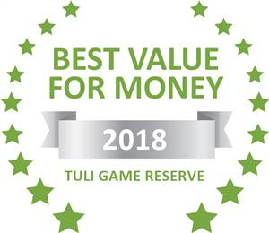 Sleeping-OUT's Guest Satisfaction Award. Based on reviews of establishments in Tuli Game Reserve, Molema Bush Camp has been voted Best Value for Money in Tuli Game Reserve for 2018