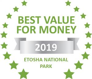Sleeping-OUT's Guest Satisfaction Award. Based on reviews of establishments in Etosha National Park, Mopane Village Lodge Etosha has been voted Best Value for Money in Etosha National Park for 2019