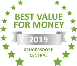 Sleeping-OUT's Guest Satisfaction Award. Based on reviews of establishments in Krugersdorp Central, Pam's Place has been voted Best Value for Money in Krugersdorp Central for 2019