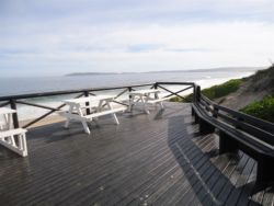 Whale and dolphin viewing deck on the beach front.