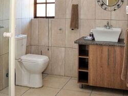 Bathroom with shower facilities