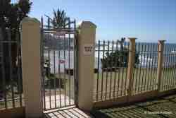 Gate to the beach at Laguna La Crete