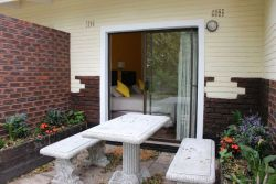 Patio and Private entrance