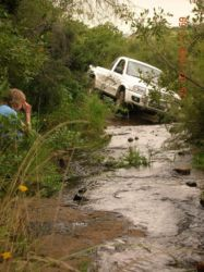 3 Provinces 4x4 Trail - driving in a stream