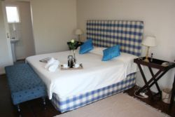 Twin / King bed unit with ensuite, bar fridge, microwave, Hotel package DSTV