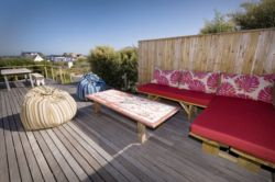 Outside Deck with Sea Views