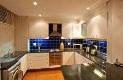 The modern fully fitted kitchen