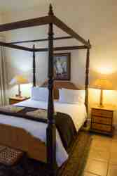 Beautiful four poster bed in suite 5