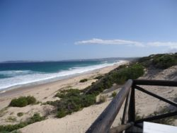 View from beach front looking towards Plettenberg Bay