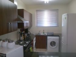 One of the kitchens at 77 Grayston
