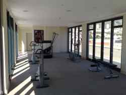Gym  on 17th floor, facing Table mountain