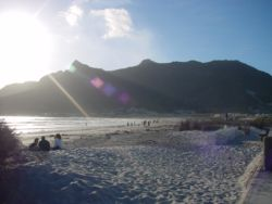 Sunset on Hout Bay beach