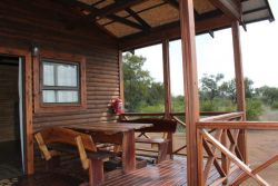 Each Cabin has a big patio with patio furniture