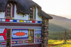 Colourful Ndebele artwork