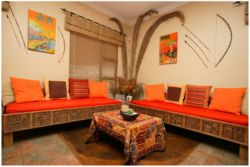 Orange lounge Area