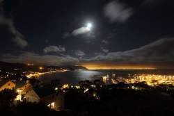 Moon Over False Bay