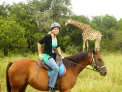 Horseback ride in a game park.