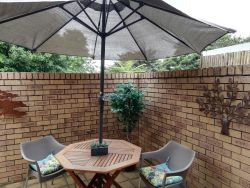 Private courtyard with braai facilities