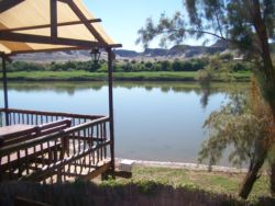 Bar overlooking the Orange River with Namibia across the water