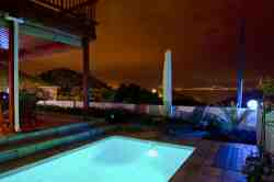 Night view at poolside