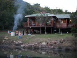 Timber Chalet on the river