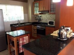 Beautiful granite kitchen, which is fully equipped. There is a water filter, fridge, microwave, oven and everything you made need to make yourself at home in the kitchen.