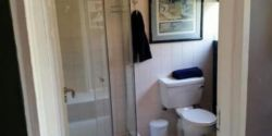 Own private bathroom with towels
