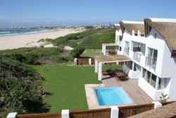 All villas have private swimming pools and direct beach access