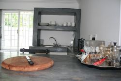 kitchen counter, tea and coffee tray
