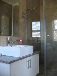 Every bedroom has an en suite bathroom with shower. Recently renovated, modern and spotless.