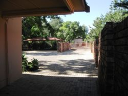 View towards entrance gate from Thabo Mbeki Drive onto property